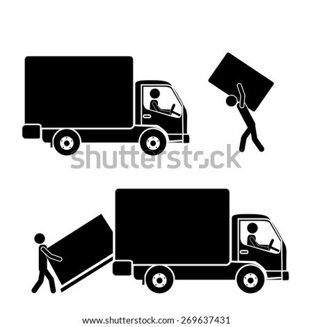 Free delivery design over white background, vector illustration