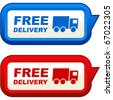 Free delivery elements for sale - stock photo