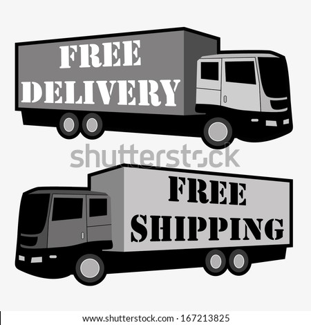 FREE DELIVERY, FREE SHIPPING VECTOR ILLUSTRATION