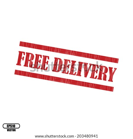 FREE DELIVERY grunge rubber stamp on white background. vector illustration.
