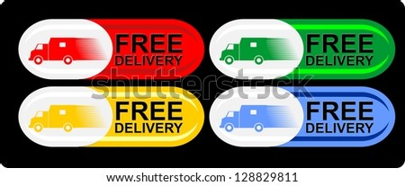 Free delivery Label, vector - stock vector