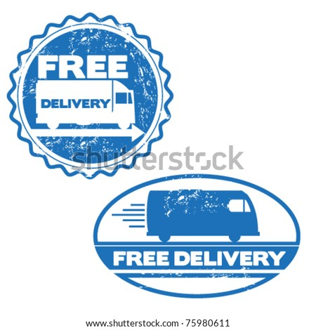 free delivery stamps - stock vector