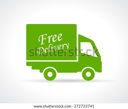 Free delivery truck icon - stock vector
