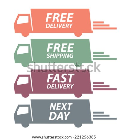 free delivery vector illustration - stock vector