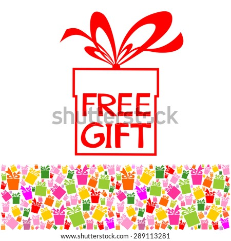 Free Gift.  Vector Illustration - stock vector