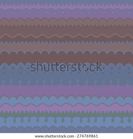 Free hand drawn color borders background. Seamless pattern.