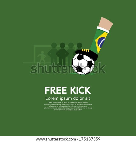 Free Kick Vector Illustration - stock vector