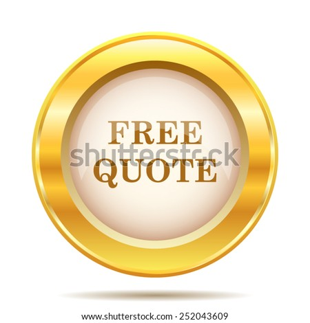 Free quote icon. Internet button on white background. EPS10 vector.  - stock vector