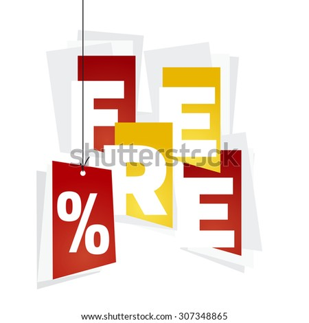 Free red percent red orange background - stock vector