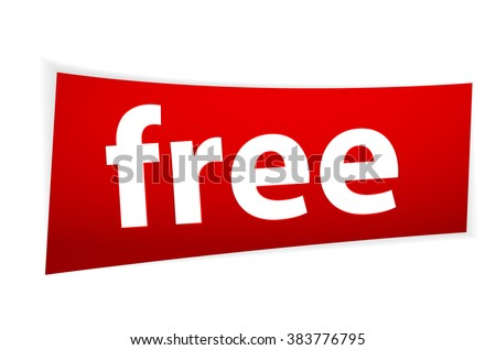 Free Red Sign Template Vector Illustration EPS10 - stock vector