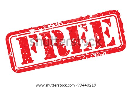 Free rubber stamp vector illustration. Contains original brushes - stock vector