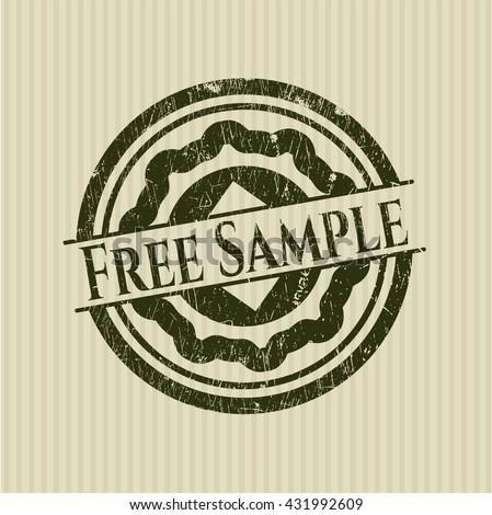 Free Sample grunge stamp - stock vector