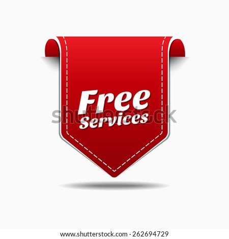 Free Services Red Vector Icon Design