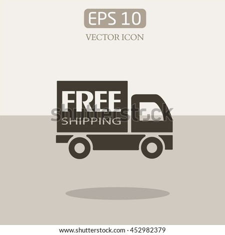 free shipping.delivery. .Fast shipping delivery truck.vector icon.Truck vector icon. - stock vector