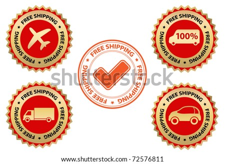 free shipping - design elements - stock vector