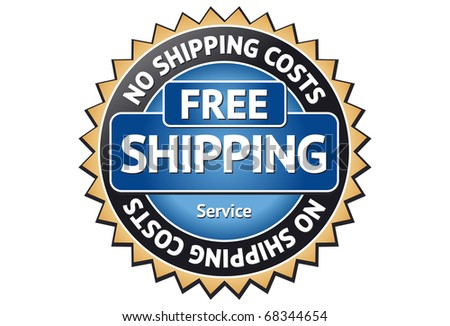 Free Shipping Label - stock vector