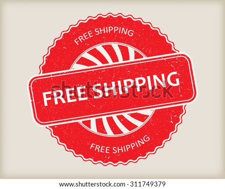 Free shipping rubber stamp.Free shipping grunge stamp.Vector illustration. - stock vector