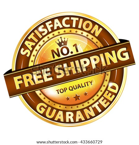Free Shipping, Satisfaction guaranteed. Top Quality - elegant luxurious button / icon for retailers. - stock vector