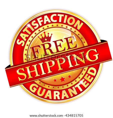 Free Shipping, Satisfaction guaranteed. Top Quality - elegant luxurious red button / icon for retailers. - stock vector