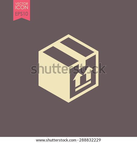 Free shipping vector icon. Free delivery sign. Package box. - stock vector