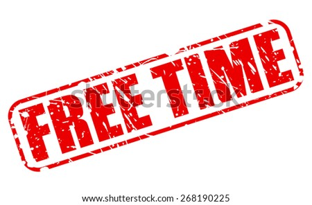 Free time red stamp text on white - stock vector