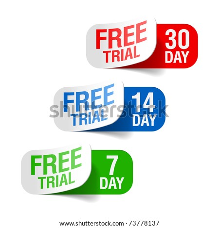 Free trial signs. Vector. - stock vector
