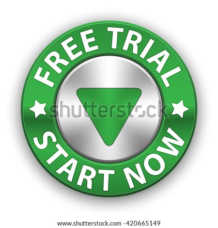 Free trial vector metallic button