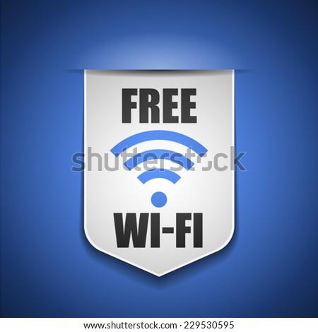 Free Wi-Fi - stock vector
