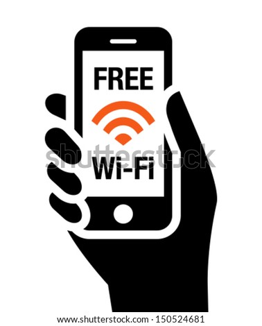 Free Wi-Fi icon - stock vector