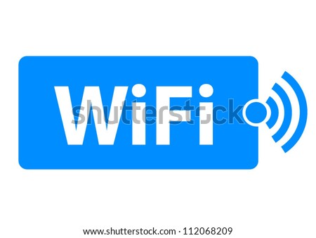Free wifi here sign concept - stock vector