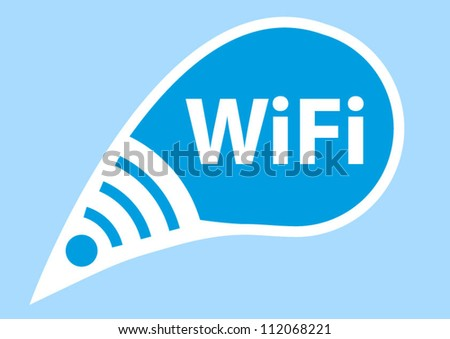 Free wifi here talking sign concept