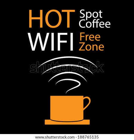 Free Wifi Hotspot - stock vector