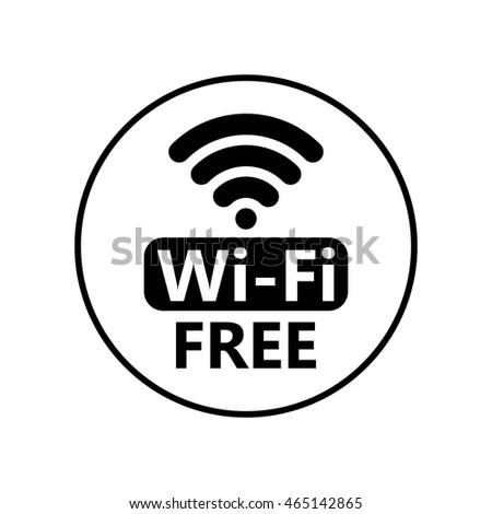 free wifi icon symbol vector circle wifi sign sticker with frame network icon for - Wifi Picture Frame