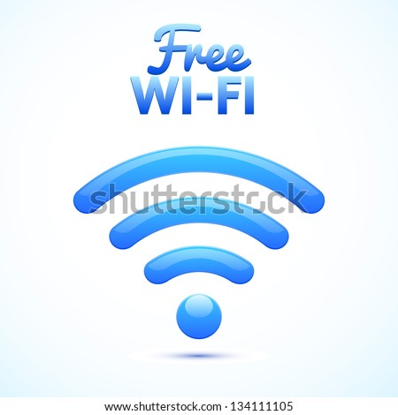 free wifi ison isolated - stock vector