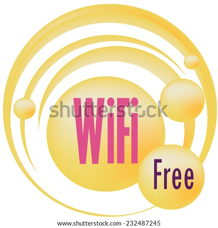 Free wifi zone hotspot vector sign - stock vector