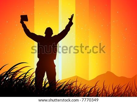 freedom and Spirituality - stock vector