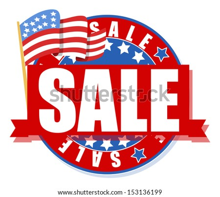 freedom day sale - 4th of july vector illustration - stock vector