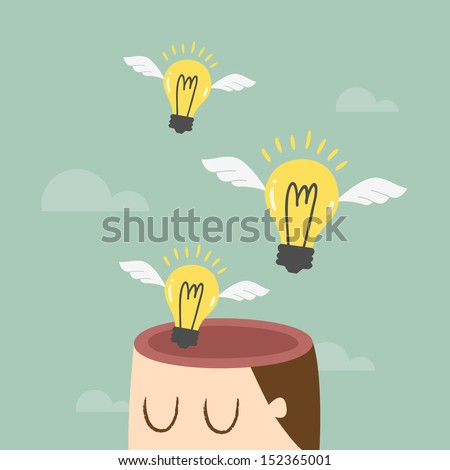 Freedom of thought, Ideas concept - stock vector