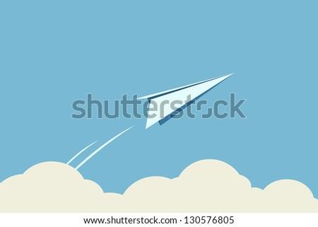 Freedom, paper planes - stock vector