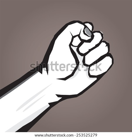 freedom revolution concept. vector  fist icon