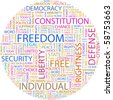 FREEDOM. Word collage on white background. Illustration with different association terms. - stock photo