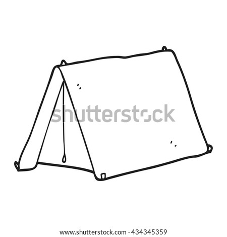 freehand drawn black and white cartoon tent  sc 1 st  Shutterstock & Freehand Drawn Black White Cartoon Tent Stock Illustration ...