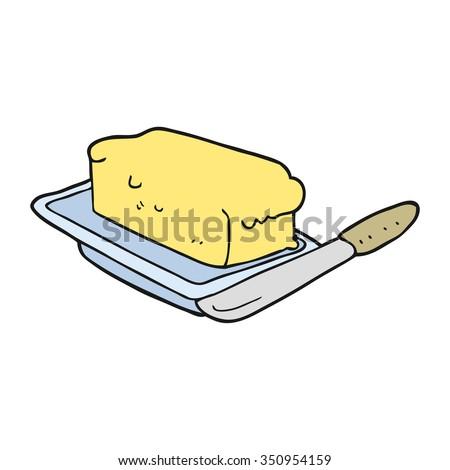 freehand drawn cartoon butter - stock vector