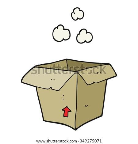 freehand drawn cartoon empty box - stock vector