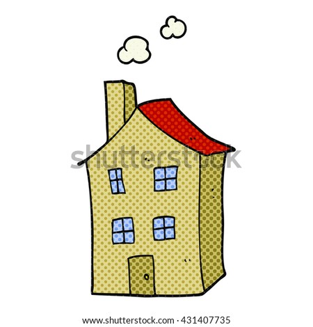 freehand drawn cartoon house - stock vector