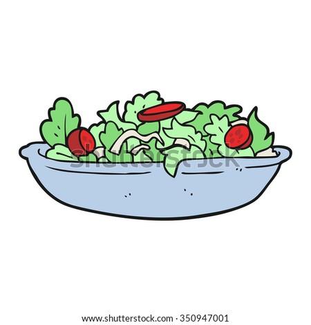 freehand drawn cartoon salad - stock vector