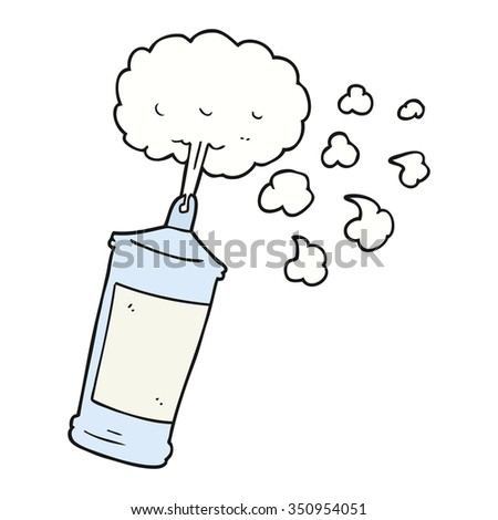 freehand drawn cartoon spraying whipped cream - stock vector