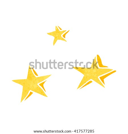 freehand retro cartoon decorative stars doodle - stock vector