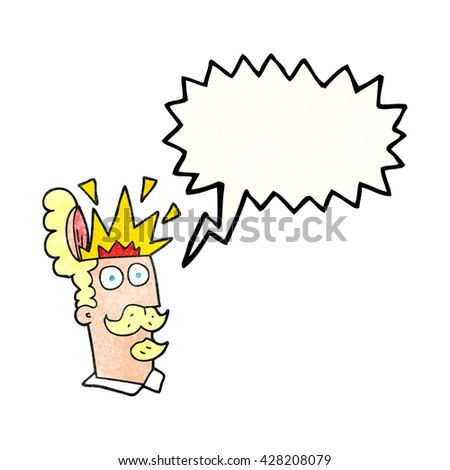 freehand speech bubble textured cartoon man with exploding head - stock vector