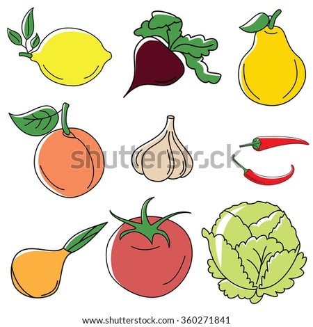 Freehand vector sketches - stock vector